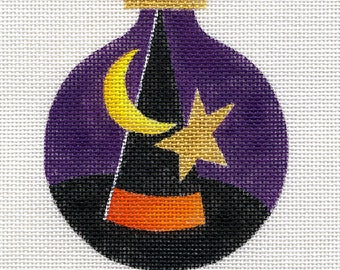 Witch Hat Needlepoint Ornament - Jody Designs  B95