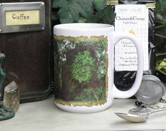 Greenman 15 oz coffee mug