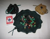 Large Leather Dice Bag