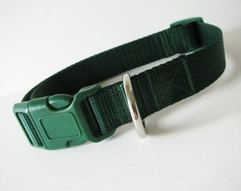 LARGE Simply Forest green dog collar