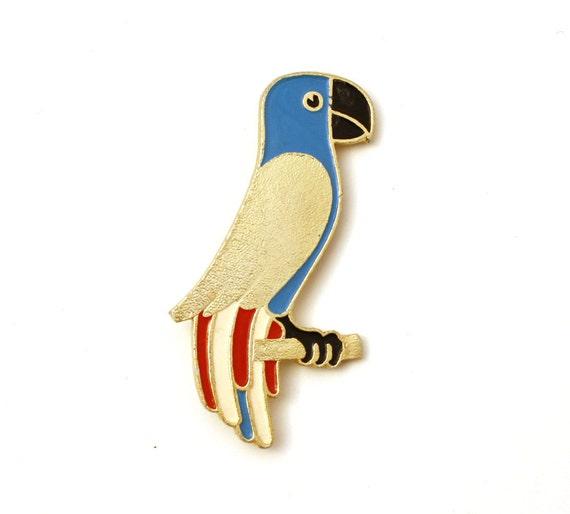 Vintage pin parrot