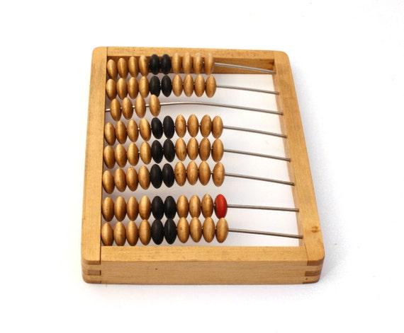Back to school. Vintage wooden abacus, brown