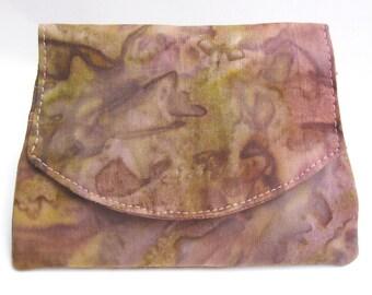 Rose and Olive Watercolor Small Batik Wallet
