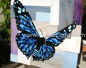 Stained Glass Butterfly on Wood Painting