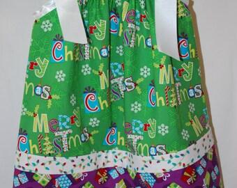 Girls Christmas Pillowcase Dress in size 2