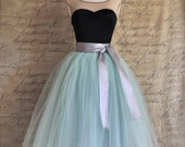 Mint  green tulle tutu skirt.  Tulle skirt for women.