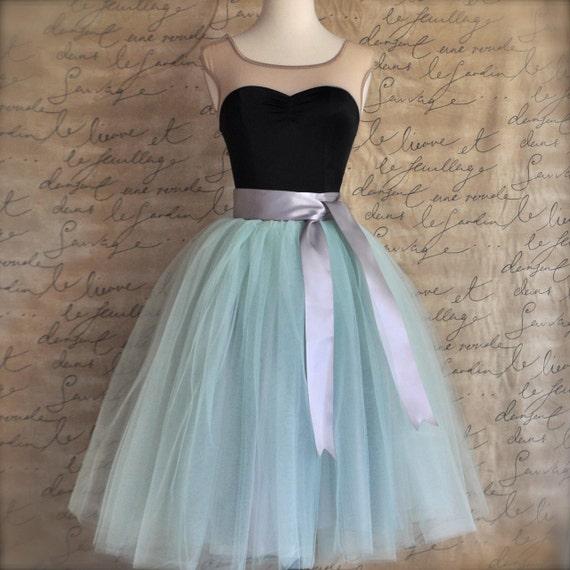 Mint  green tulle tutu skirt.  Tulle skirt for women.