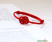 Red String Bracelet Lucky Cloud Chinese Knot Kabbalah Friendship Thread Fibre Bracelet macrame - GlamorIn