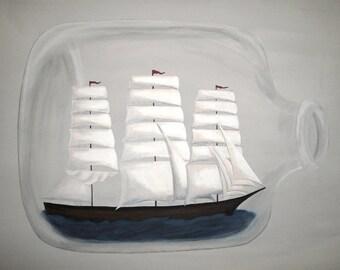 Ship In a Bottle - 8.5x11 Print