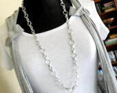 """34""""Circles and Links Chain necklace"""