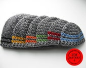 Crochet hat pattern, basic stripe beanie pattern. instant download, hat pattern, boys hat pattern, newborn, infant, mens hat