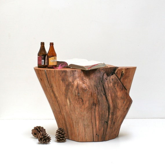 Tree Root Table Pecan by realwoodworks1 on Etsy