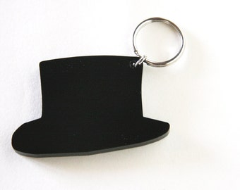 top hat keychain - for him - unisex gentlemen elegant gift under 15 USD