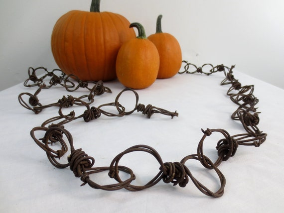 8 Foot Length of  Barbed Wire Chain