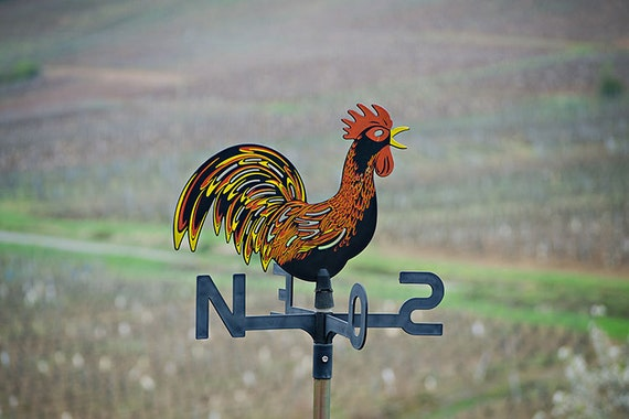 RESERVED FOR Kathleen - 8x12 French Rooster Weathervane Photograph