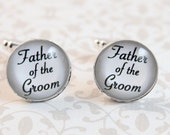 Father of the Groom Cufflinks, Gift for Dad, Wedding Keepsake