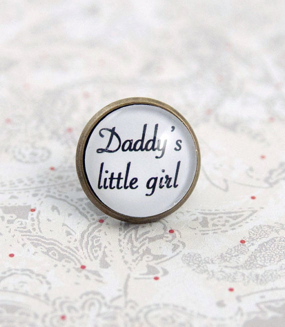 Daddy's Little Girl Lapel Pin, Tie Tack, Tie Pin, Father of the Bride, Boutonniere Pin