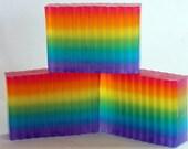 Over the Rainbow Glycerin Soap for Rainy Days or Birthday Gifts ROYGBIV