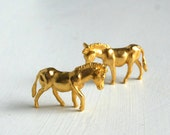 Golden Ass - A pair of gold plated pewter donkeys