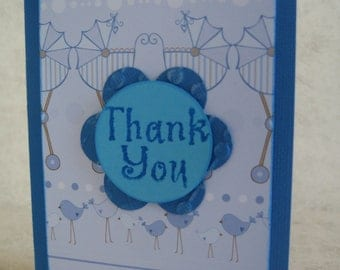 12 New Baby Boy Thank You Cards