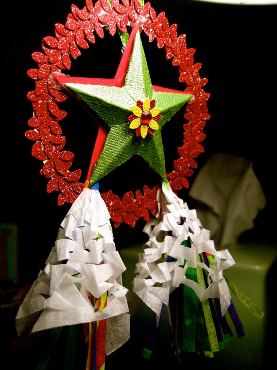 Items similar to miniature filipino christmas lantern aka Christmas tree decorating ideas philippines