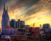 Music City Sunset - The Nashville Tennessee Skyline