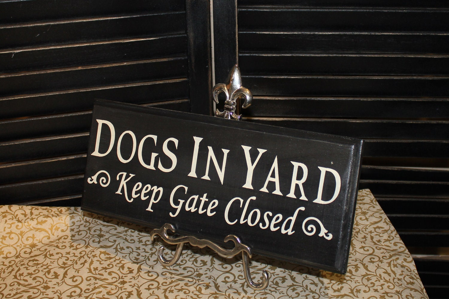 Dogs In Yard Keep Gate Closed Sign Dog Sign Gate Sign Pet