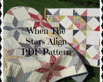 PDF pattern -- When The Stars Align...TWO design variations in one pattern-- multiple size options