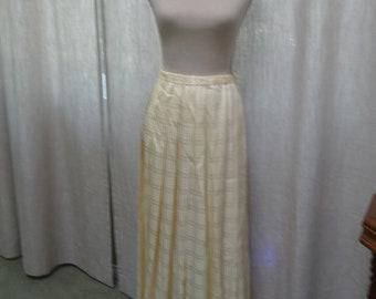 Long Pleated Silk Skirt
