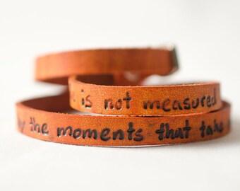 Moments That Take Your Breath Awayon Ultra Long Leather Wrap Bracelet