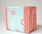 Organic Fabric Basket - Flowers and Cobblestones