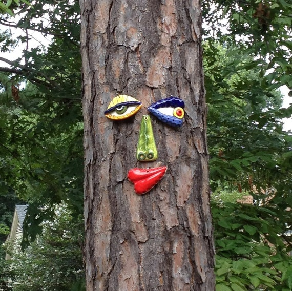 Picasso Tree Face Garden Art Yard Or Fence Art In Stock