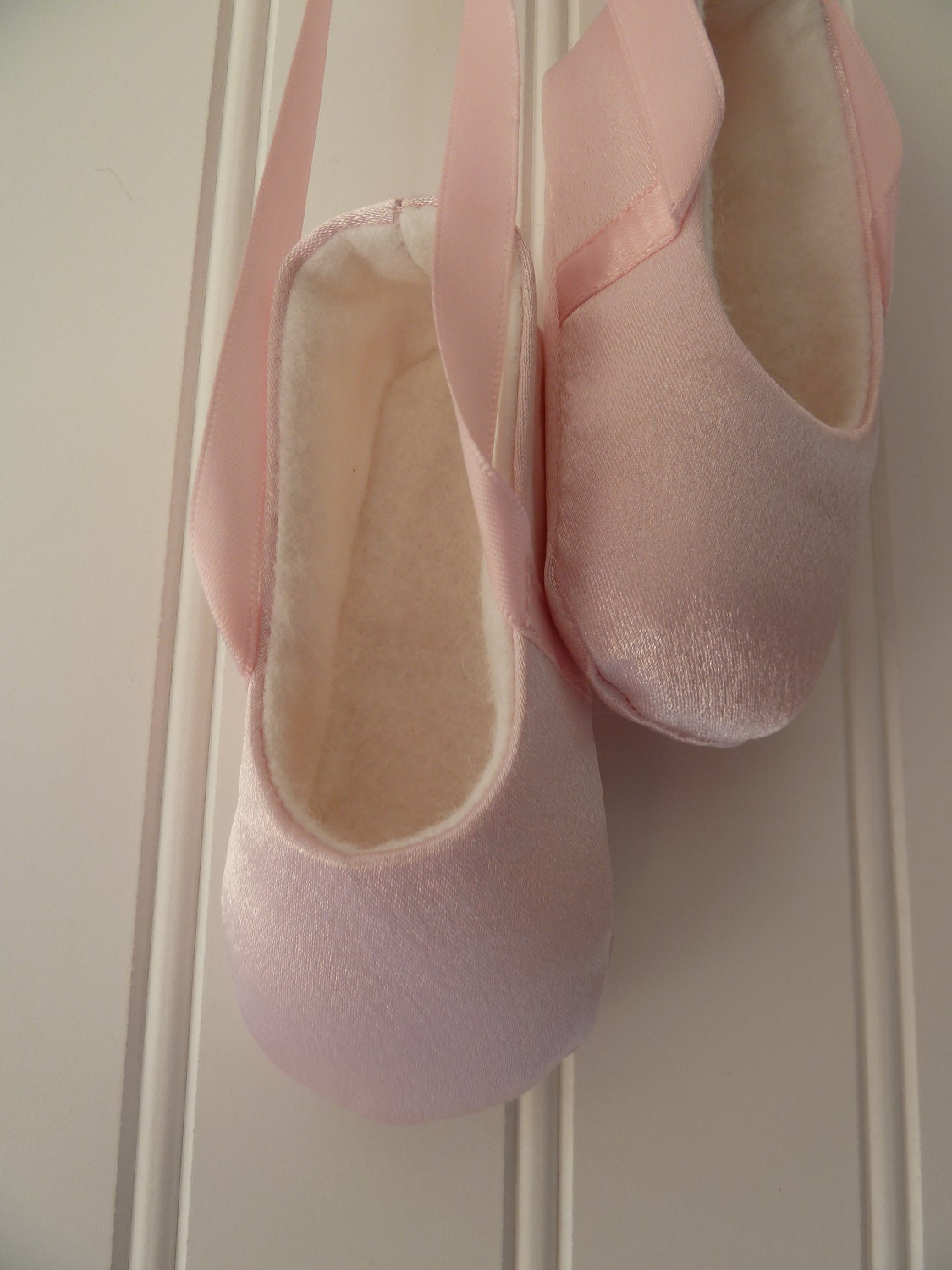 Infant Ballet Shoes in Pink Satin Baby Ballerina by