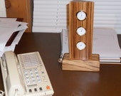 """Small Vertical Desktop """"Weather Station"""" of Zebrawood"""