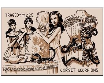 Benjamin Dewey Tragedy Series Print: Corset Scorpions
