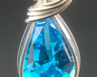 petite blue topaz in sterling