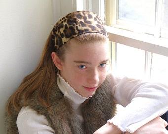 Leopard Print Headband: Brown & Black Animal Print Wide Headband- Girls Fall Fashion- Autumn Safari - Gift for Her - Stocking Stuffer