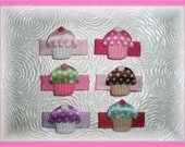 CUPCAKE Snap Clip - You Pick 1 - Baby Snap Clip, Cupcake Hair Clip, Baby Hair Bow - Stays in Fine, Thin Baby Hair