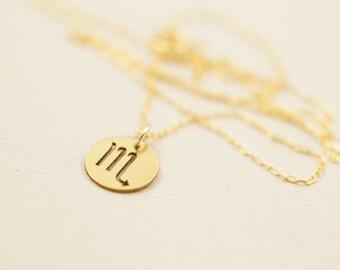 Zodiac necklace, zodiac charms, constellation necklace, zodiac jewelry, dainty necklace - gold filled