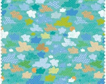 Blend Fabrics, Little Monkeys by Sharon Kropp 10210106-2 (Green) 1 yard