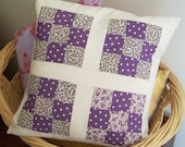 Vintage Nine Patch Pillow Cover in Purple