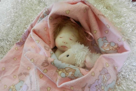 "Grace the 6"" all cloth Baby Rag Doll Reserve Listing for freckledlaundry"