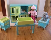 RESERVED Listing for Olivia - Pet Hospital Boarding Set for American Girl - January Ship