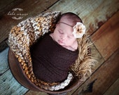 Newborn Baby Blanket Photography  Prop Super Chunky Photo Prop Layering Blanket Layer