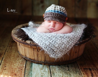 Newborn Baby Blanket Photography Prop Soft Angel Hair great photo prop bucket bowl basket tan oatmeal