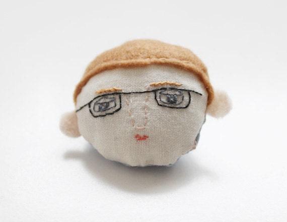 SALE glasses boy brooch