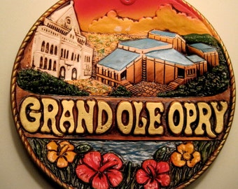 Grand Ole Opry vintage souvenir plate made in Japan