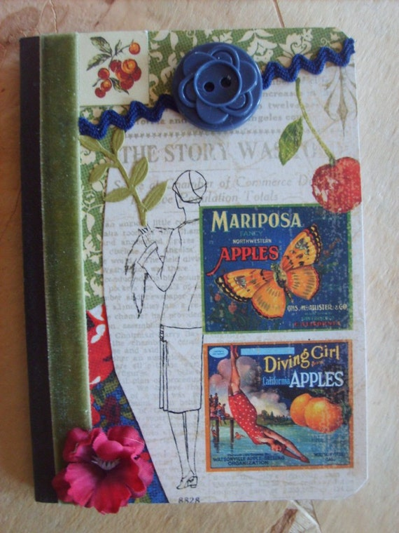 Vintage Inspired Mini Altered Composition Book