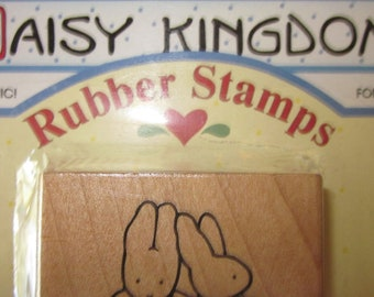 Bunnies Rubber Stamp Forever Friends Bunnies w/ baskets - Daisy Kingdom - New in Package