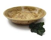 Serving Bowl Earth Tones of Tan Brown Green